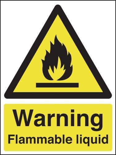 Warning Flammable Liquid Signs