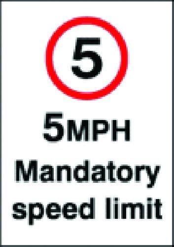 5Mph Mandatory Speed Limit Sign