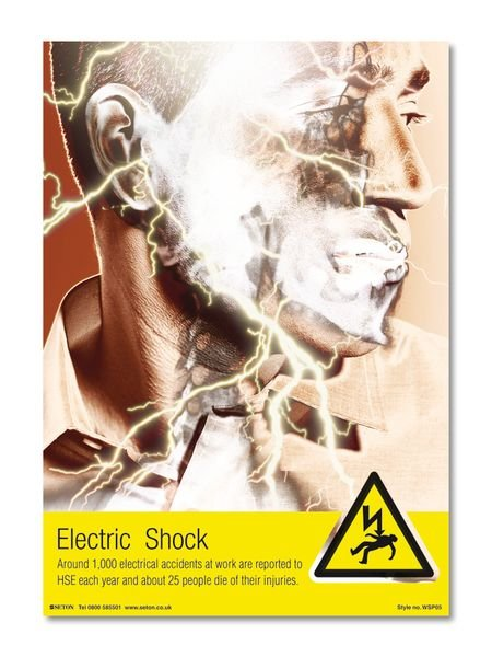 Electric Shock Safety Posters