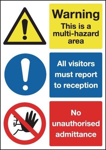Multi Hazard Area/Visitors Multi-Message Sign