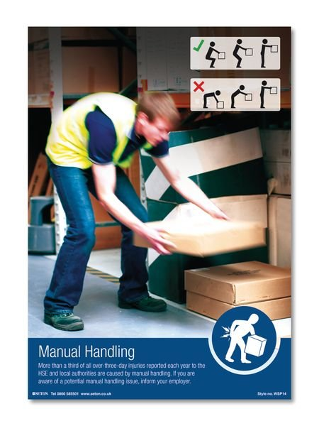 Manual Handling Safety Posters