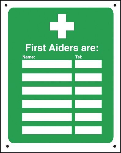 "First Aiders Are """" - Vandal-Resistant Sign"