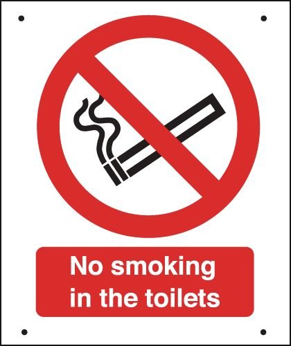 No Smoking In The Toilets - Vandal-Resistant Sign