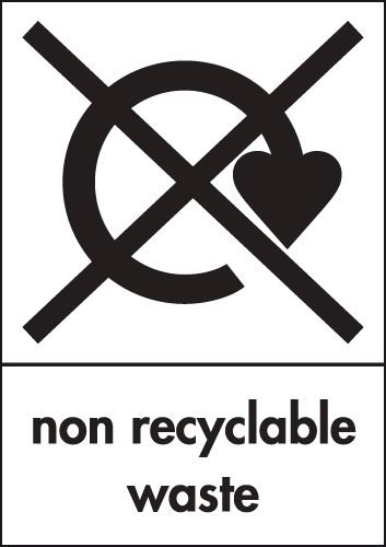Non Recyclable Waste - WRAP Waste Recycling Signs