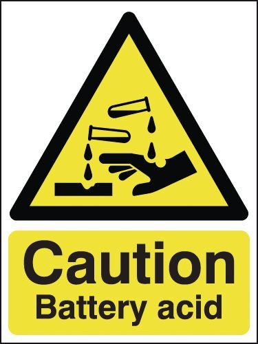 Caution Battery Acid Signs