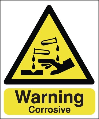 Warning Corrosive Signs