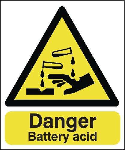 Danger Battery Acid Signs