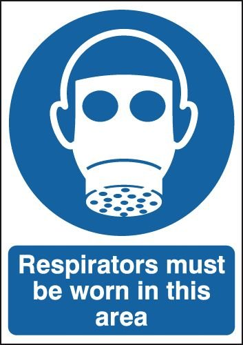 Respirators Must Be Worn In This Area Sign