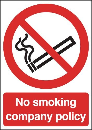 No Smoking Company Policy Sign