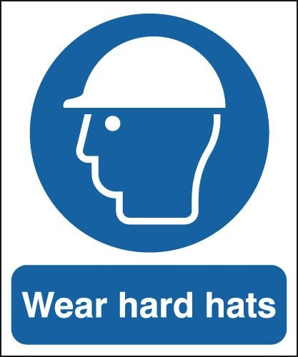 Wear Hard Hats Sign