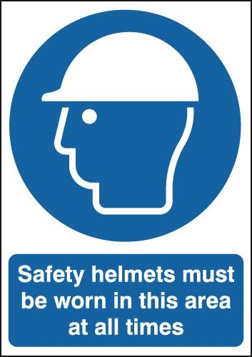 Safety Helmets Must Be Worn At All Times Signs