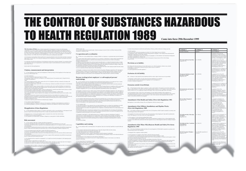 Substances Hazardous To Health Wallchart
