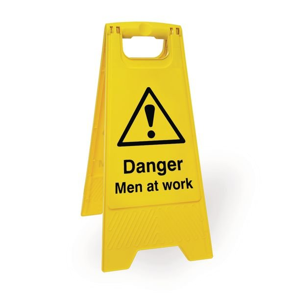 Economy Floor Stands - Caution Men At Work