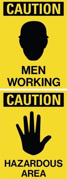 Men Working / Hazardous Area Dual Message Floor Stand
