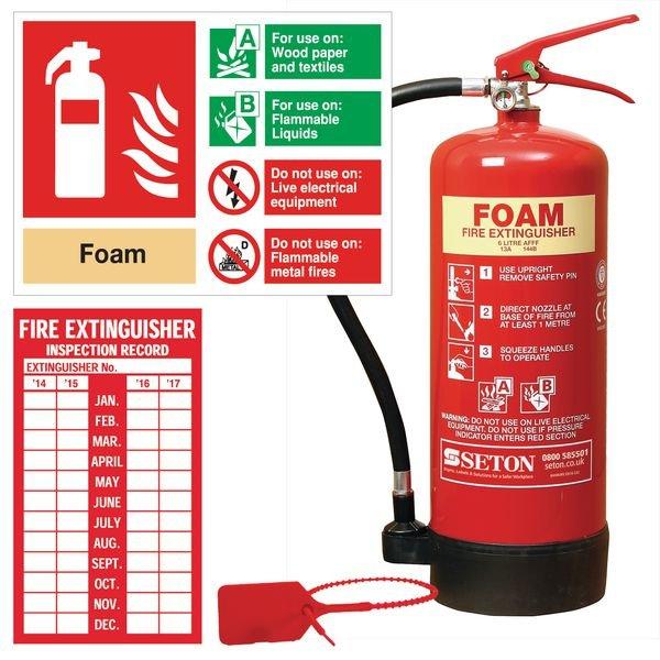 AFFF Foam Fire Extinguisher, Sign & Seal Kits