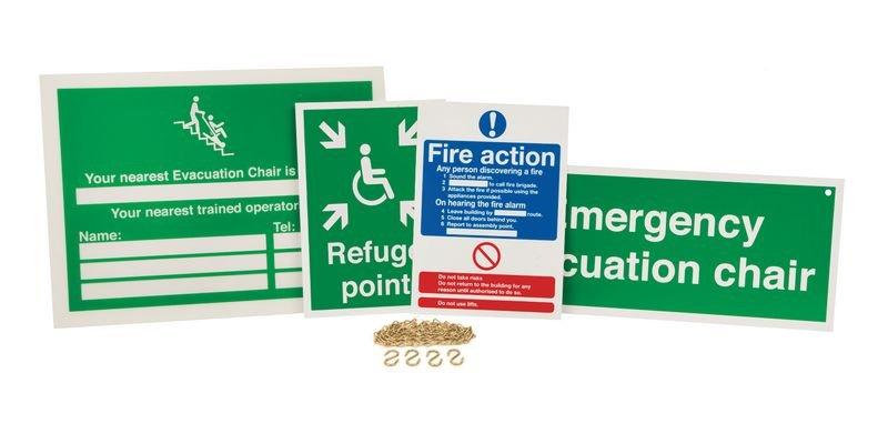Evacuation Chair Sign Awareness Kits