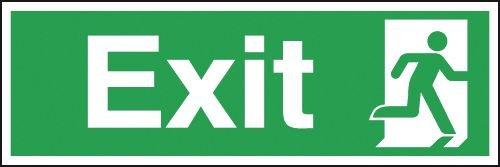 Exit Running Man Right Signs