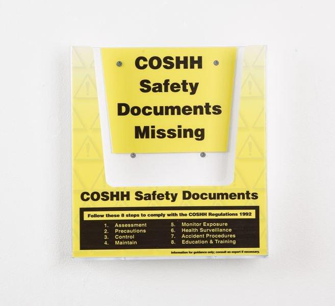 COSHH Safety Document Holder