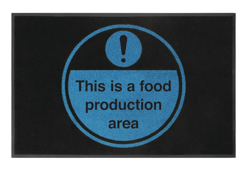 This Is A Food Production Area Highly Visible Mats