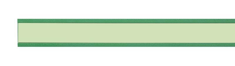 Rigid Green PVC Extrusion For Low Location Lighting Insert
