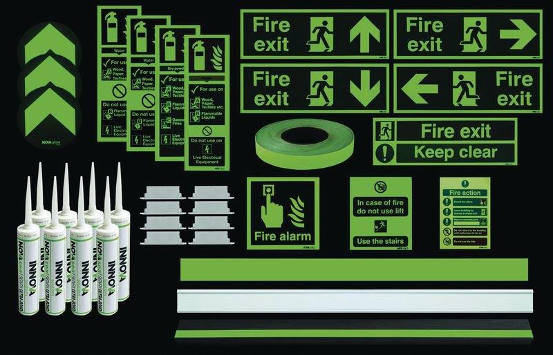 Photoluminescent Premium Stairway Kit