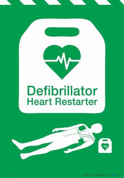 Defibrillator Heart Restarter Poster