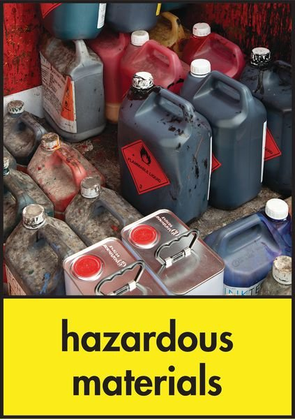 Hazardous Waste - WRAP Hazardous Waste Recycling Pictorial Signs