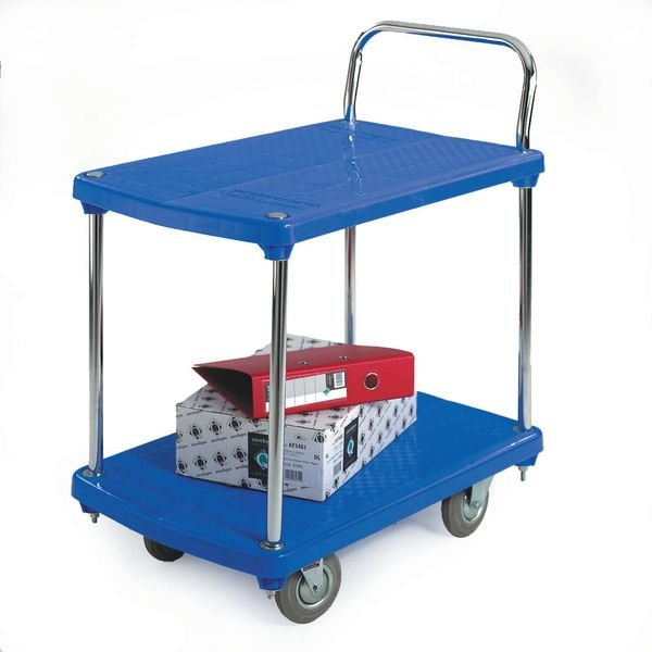 2 Tier Plastic Platform Trolley