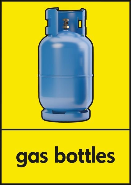 Gas Bottles - WRAP Photographic Recycling Signs
