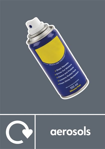 Aerosols - WRAP Photographic Recycling Signs