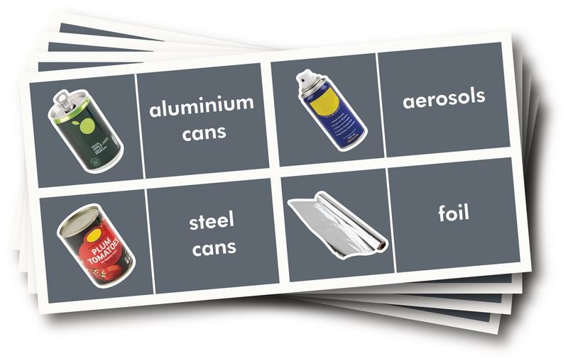 WRAP Photographic Recycling Labels - Metals