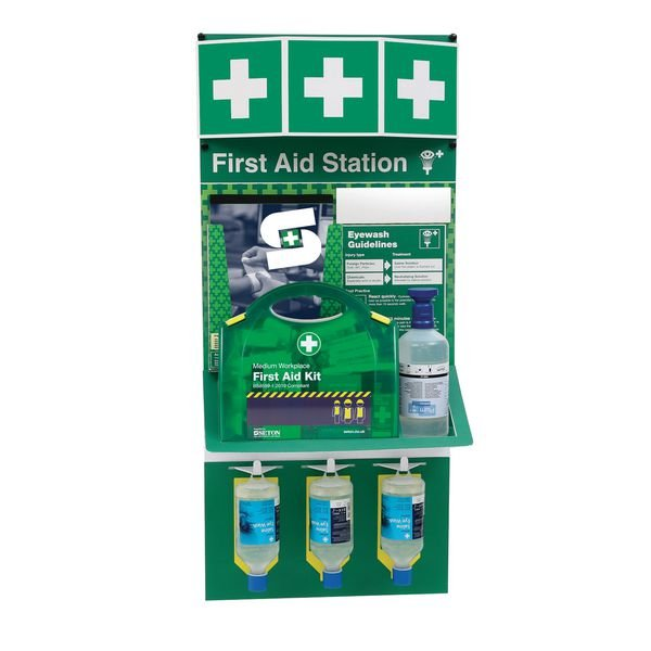 Combined First Aid Kit & Eye Wash Stations
