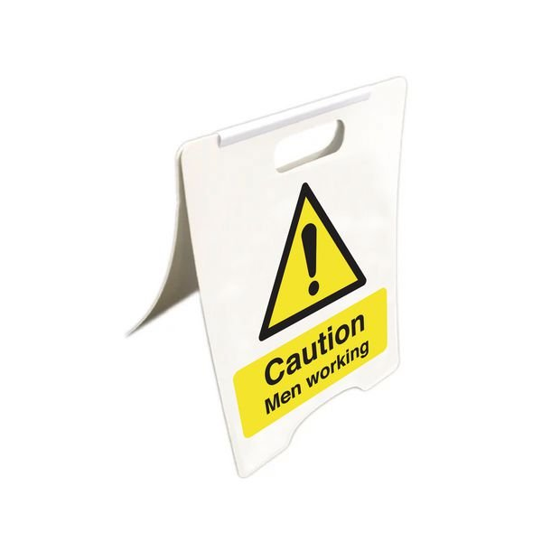Caution Men Working - Temporary Floor Sign