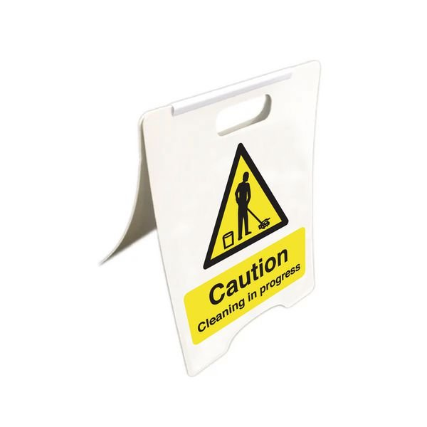 Caution Cleaning In Progress - Temporary Floor Sign