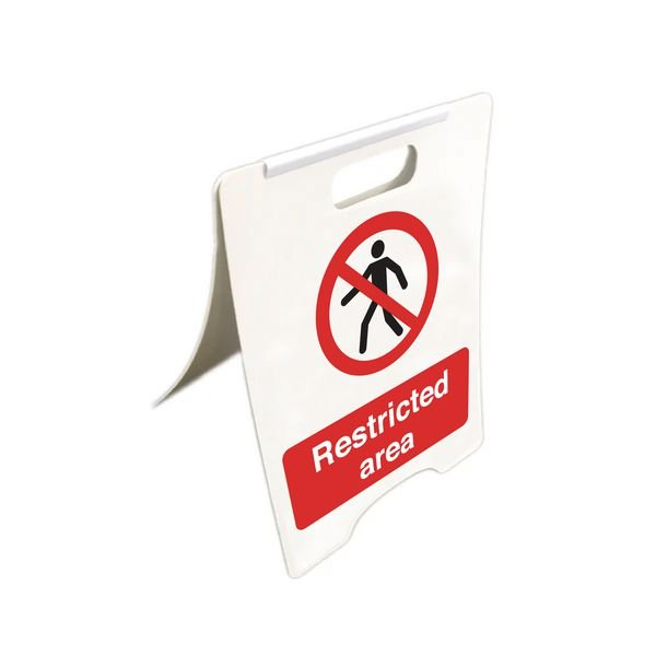 Restricted Area - Temporary Floor Sign