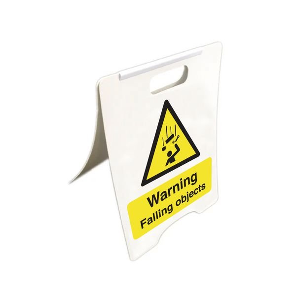 Warning Falling Objects - Temporary Floor Sign