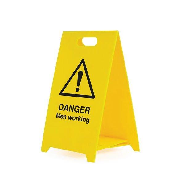 Danger Men Working - Safety Warning 'A' Board