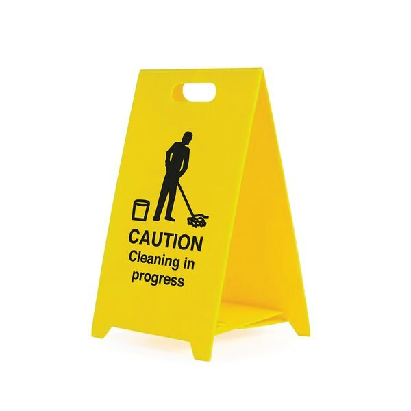 Caution Cleaning In Progress - Safety Warning 'A' Board