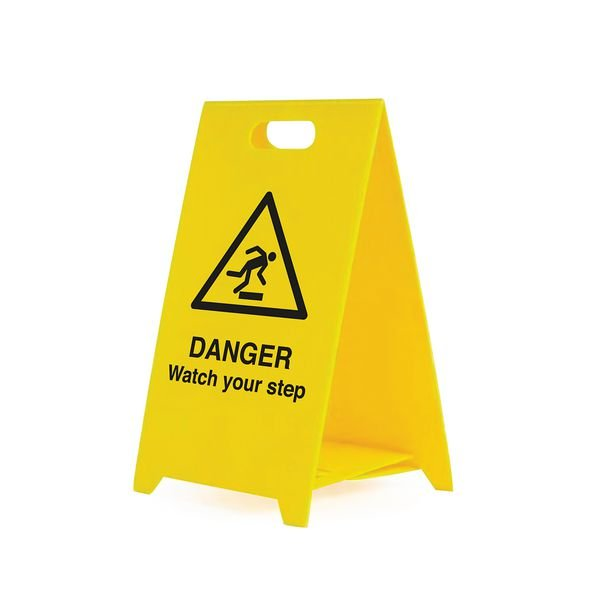 Danger Watch Your Step - Safety Warning 'A' Board