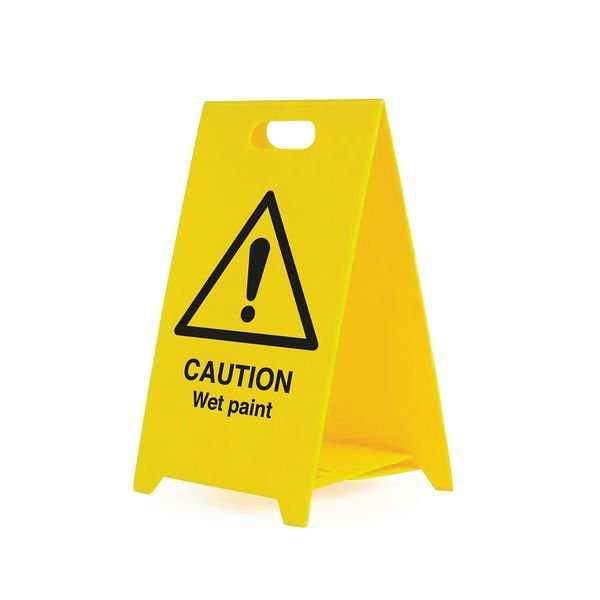 Caution Wet Paint - Safety Warning 'A' Board