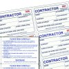 Contractor Management Book Kit Refill