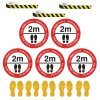 Social Distancing - Chevron Tape & Floor Sign Kit