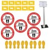 Social Distancing - Information Sign & Corner Floor Marking Kit