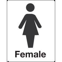 Female Toilet Vandal Resistant Sign