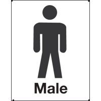 Male Toilet Vandal Resistant Sign
