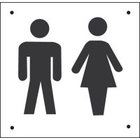Unisex Toilet Vandal Resistant Sign