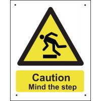 Caution Mind The Step - Vandal-Resistant Sign