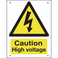 Caution High Voltage - Vandal-Resistant Sign