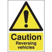 Heavy Duty Caution Reversing Vehicles Sign