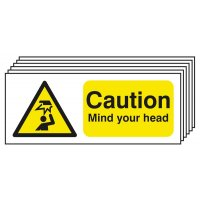 6-Pack Caution Mind Your Head Signs